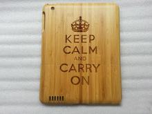 High qulity real bamboo For ipad wooden case
