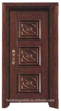 Steel door glass insert entry door/Exquisite glass door
