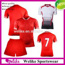2014 Wholesale club thailand soccer jersey set high quality football shirt cheap red football wear