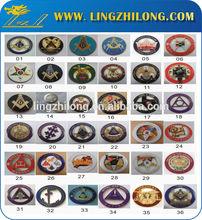 Custom various freemason auto car emblems ,luxury masonic round car emblem