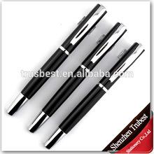 Silver clip metal pen , Promotional metal ball pen silver black