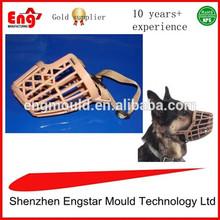 Plastic pet dog mouth guard muzzle mask cover mould