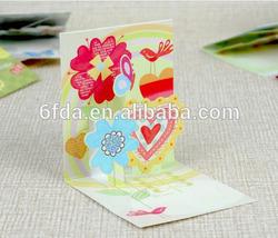 Fashion Sunflower shape Card/Greeting card/wedding card