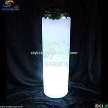 Plastic outdoor lighted led garden vase