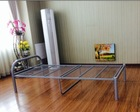silver grey twin size metal bed frame