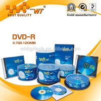 Blank cd-r &dvd-r for music,movie,video store/blank cd dvd