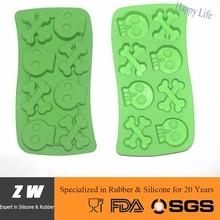 ZW FDA LFGB skull ice cube tray