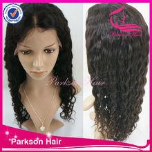 High grade deep wave 26-28inch virgin color 100% European virgin hair full lace wig for black women