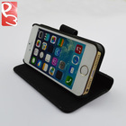 Black Leather Wallet Case for iPhone 5S 5, with Rubberized PC Stand Function and Credit Card with Strap Design, Pay Pal Accept