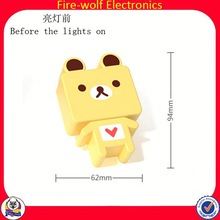 Promotional Items China Personalized gifts Colorful plug in led night light Supplier