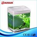 Sunsun acrílico / vidro nano koi View aquário tanque de peixes redondos, Aquário mesa tanque HRC-380E-W