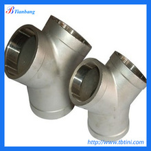 large scale hot sale best price dn65 sch10s titanium y pipe fitting from China supplier