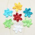 Flores de fita& vestuário fita curva& laço de cetim feitas à mão flor