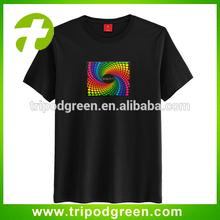 DJ light up led panel t-shirt,wire led display t-shirt
