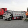 Precio favorable de dongfeng trasero- carga de polvo carrito, trashmaster