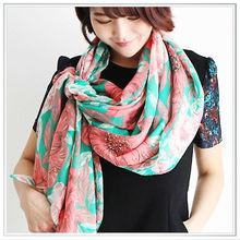 custom design digital printing modal scarves