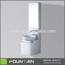 Under Round Basin Wall Back Tap PVC Bathroom Cabinet
