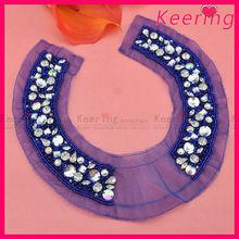 Handmade beaded blouse collar ladies neck trim WNL-1311