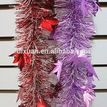 Tinsel christmas garland tinsel flower garland PVC/PET -Star