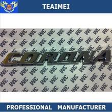 chrome Toyota corona logo badge car emblem