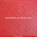 De gama alta de dos tonos de impresión en relieve PVC sofá de cuero, Rojo de cuero PVC grano