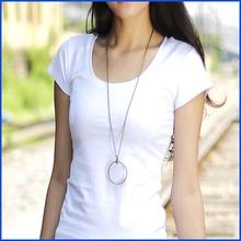 Nanchang guanqiu manufacture oem serviece women slim fit blank cotton t-shirt