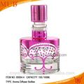 Decorative glass bottles wholesale; clear decorative glass perfume bottle decoration