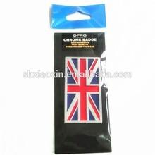 UK FLAG chrome badge emblem