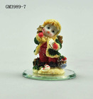 Handmade thinking little girl desk resin decoration with mirror