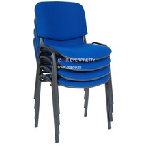 Stackable four legs chair,visitor conference chair, steel frame metal chair