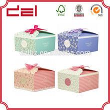 Decorative full printed customized paper cupcake box