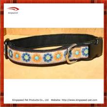 Enjoyable flower dog collar