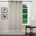 Paetês bordados cortinas de organza listrado sheer voile cortina cortina