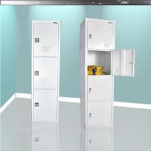Commercial public use cabinet 3 tire steel locker cabinet