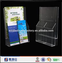 Custom Design Clear Acrylic Office Table Book Display