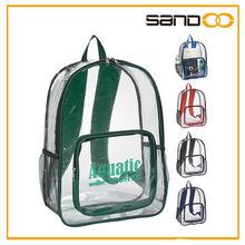 clear school stadium backpack, PVC bag