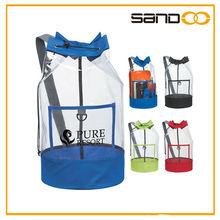 clear stadium pvc barrel sling bag