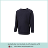 Long Sleeve Natural Cotton Stretch O-Neck T Shirts In Black