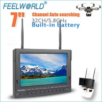 32 channel 5.8ghz 7 inch LCD FPV diversity monitor receiver for drone radio control