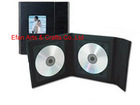 PU wedding CD & DVD case folios with 2 picture and 1 disc