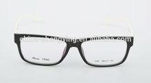 TR-90 Eyeglass Frame with Black Frame White Temple Women Eyewear LY1009-2