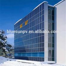 High transparent pv solar panel transparent for building solar power system