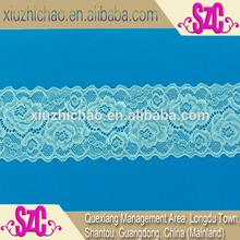 7.5cm fashion spandex nylon woven elastic lace ribbon
