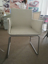 stainless steel outdoor stacking chairs white chair AR-0332