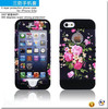 Water Transfer Printing 3 in 1 Combo Impact Roker Hybrid Case for Apple iPhone 5 5S
