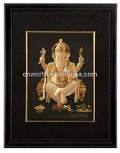 NICE Hot selling gold foil india god pictures for India god 3D gold foil frame