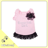 the summer pink dog dress with black lace