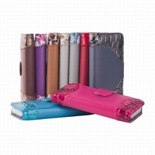 Stand Wallet Leather Mobile Phone Case for iPhone 5 with 2 Card Slots