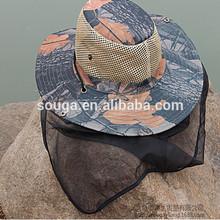 Face Protect Cap Mosquito bucket hat Fishing Camping face mask cap Guard against Midge fishing cap