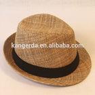 high quality fashion lady hat /straw fedora hat/summer hat for wimen